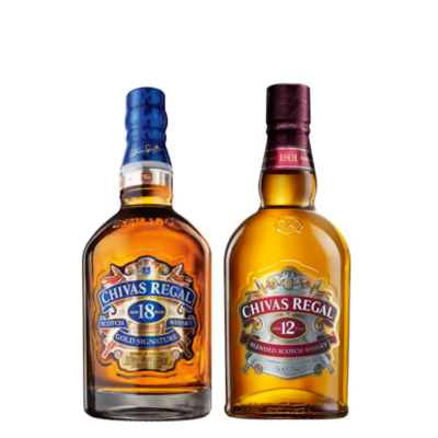 Chivas 12 & 18 Blended Scotch