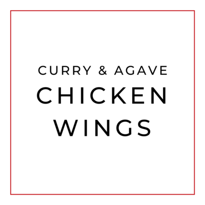 'Chicken Wings' al Curry y Agave