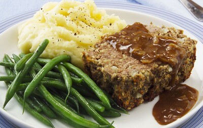 'Organic Meatloaf with gravy'
