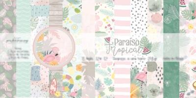 """Colección de Papeles 12""""x12"""" - Paraíso Tropical"""