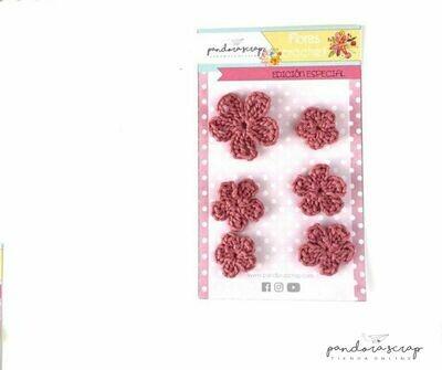 Flores de Crochet - Rosa Antiguo