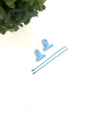 Pinzas y Cadena - Azul bebé