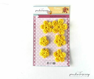 Flores de Crochet - Canario