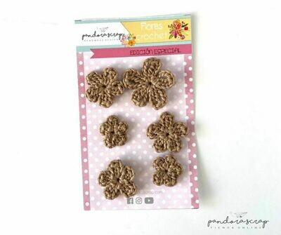 Flores de Crochet - Capuchino
