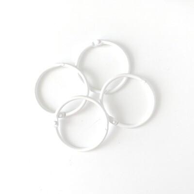 Set de 4 Argollas - Blanco 45 mm