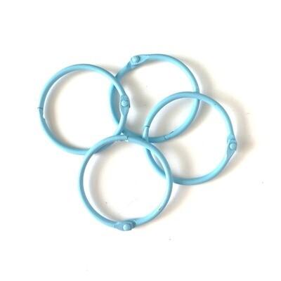 Set de 4 Argollas - Azul Cielo 45 mm