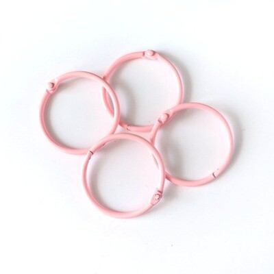 Set de 4 Argollas - Rosa 45 mm