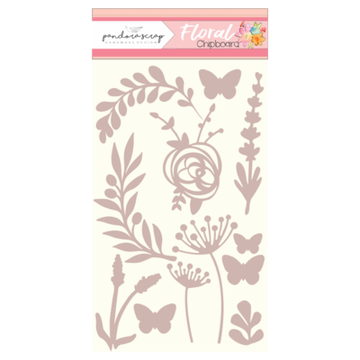Chipboard - Floral