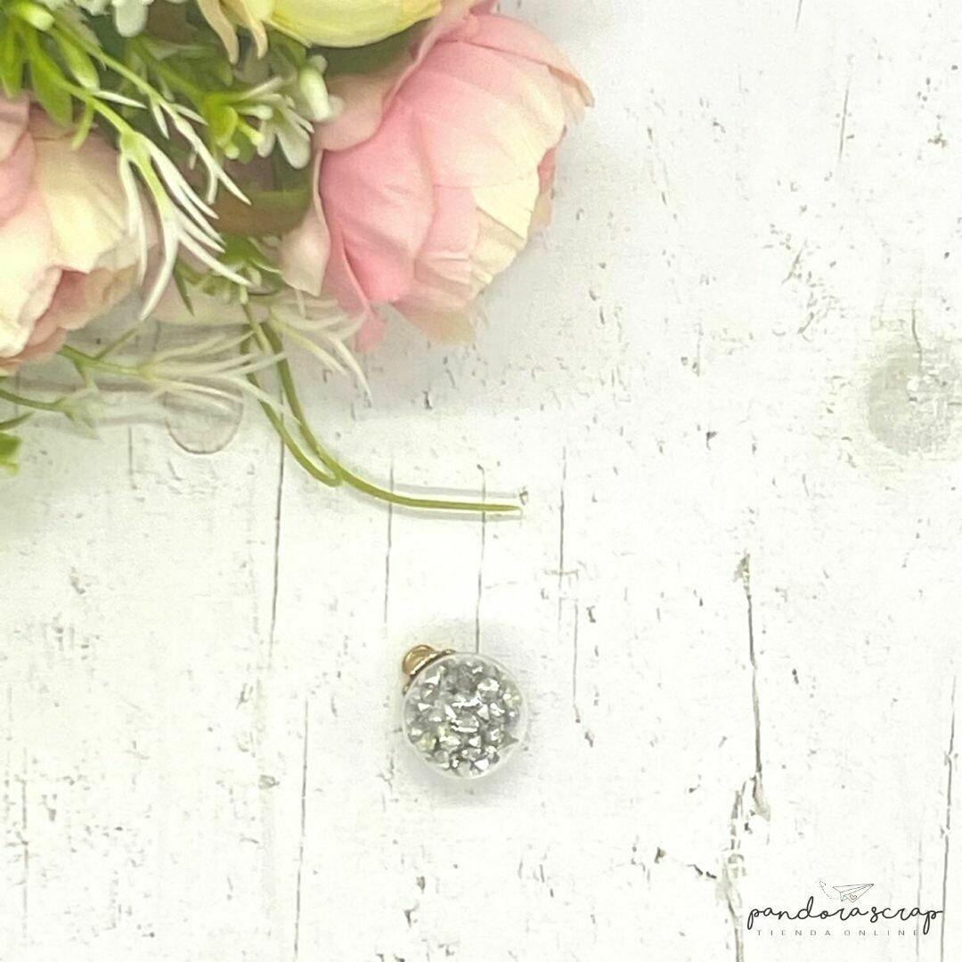 Esfera de cristal - Diamantes plata