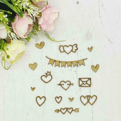 Mdf Banner - Mini corazones