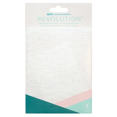 EMBOSSING FOLDER - WR - REVOLUTION - WOVEN AND HONEYCOMB (2 PIECE)