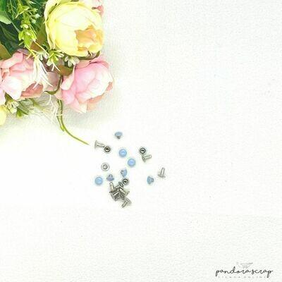 Remache presión - Azul Pastel
