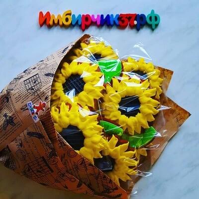 Имбирные пряники цветы
