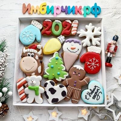 Имбирные пряники новый год 2021