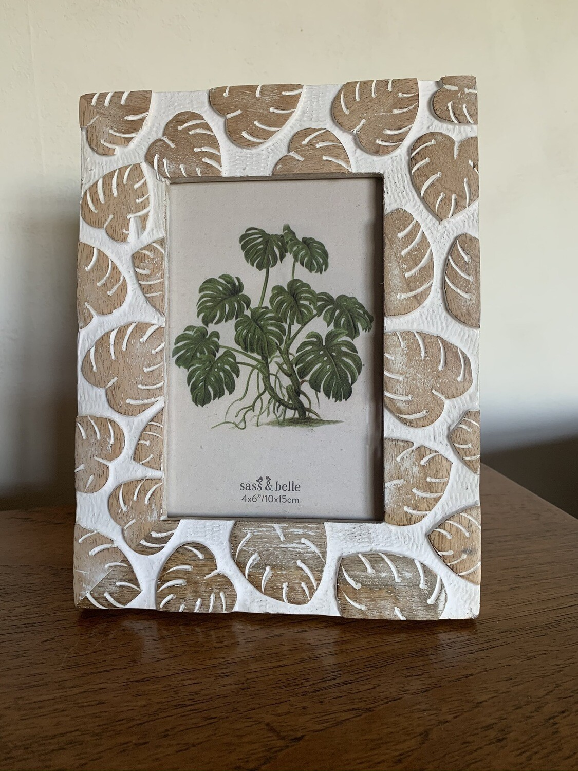 Wooden Cheese Plant Photo Frame