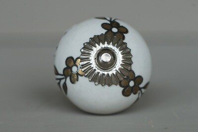 White Gold Ceramic Knob