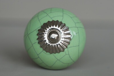 Crackle Vert Green Knob