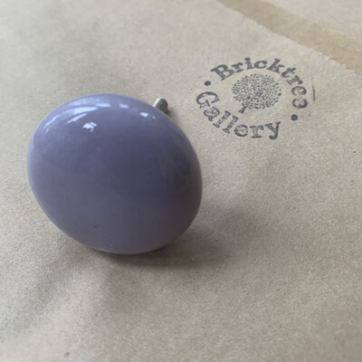 Pebble Smooth Purple Ceramic Knob