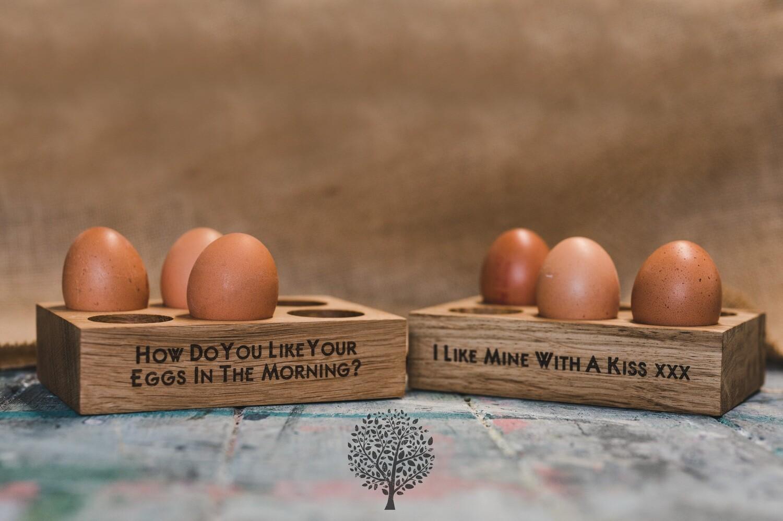 1/2 Dozen Solid English Oak Egg Holder by LapageMade