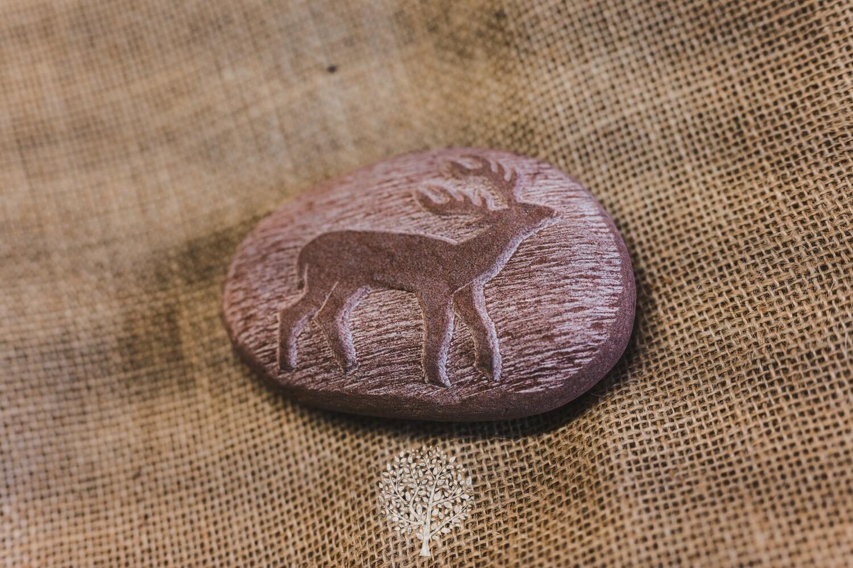 Deer Stone Carving by Jane Cowan Stonecarver