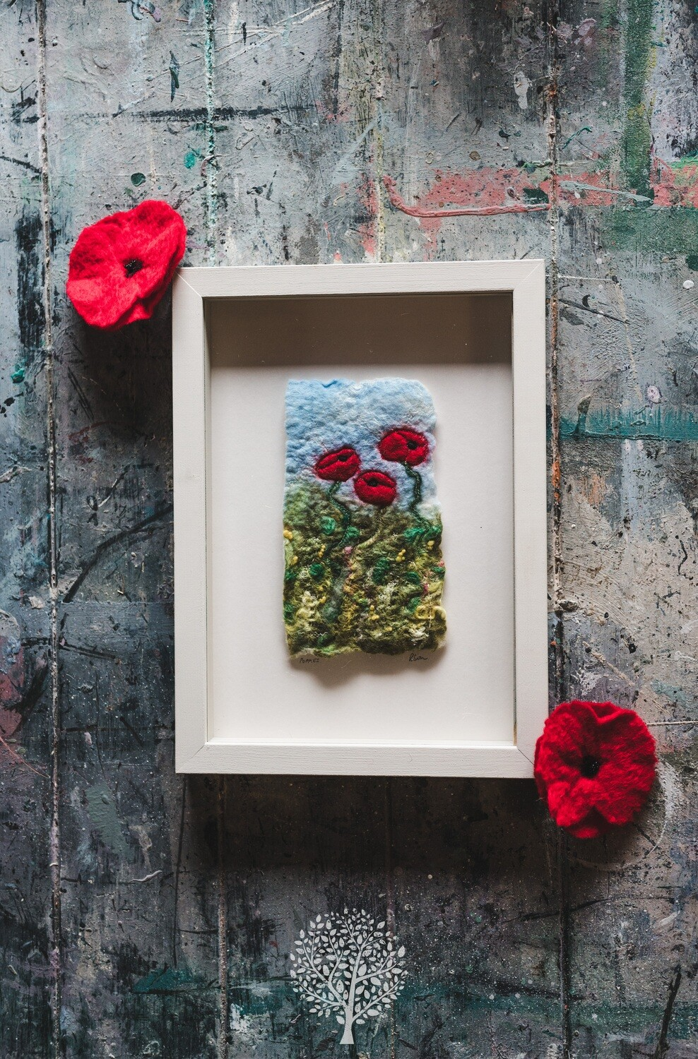 Felted Poppy by Felty Bits