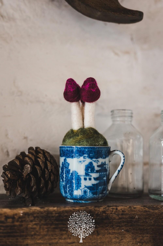 Mushroom Tea Cup by Felty Bits