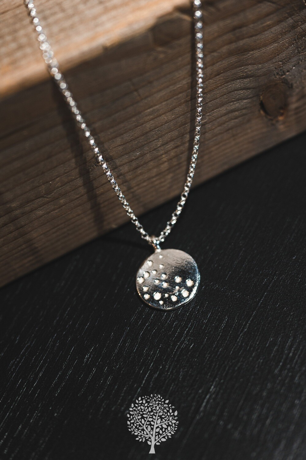 Silver Disc Necklace by Also Emma