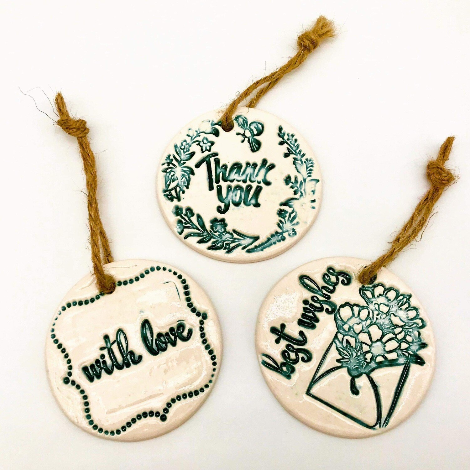 Ceramic Gift Tag By Quite Contrary Pottery