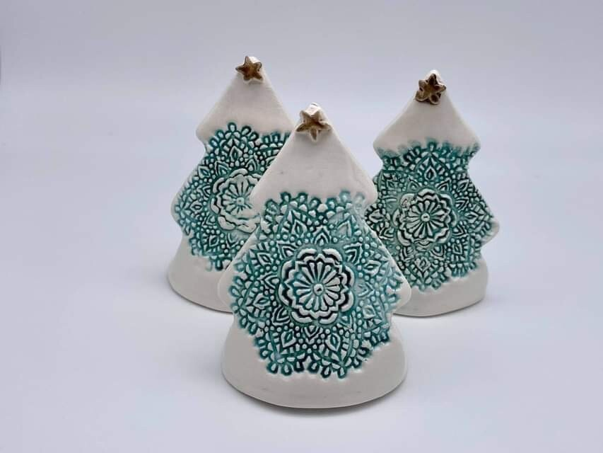 Ceramic Christmas Tree Tealight Holder by Quite Contrary Pottery