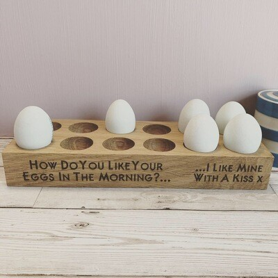 Dozen Solid English Oak Egg Holder by LapageMade