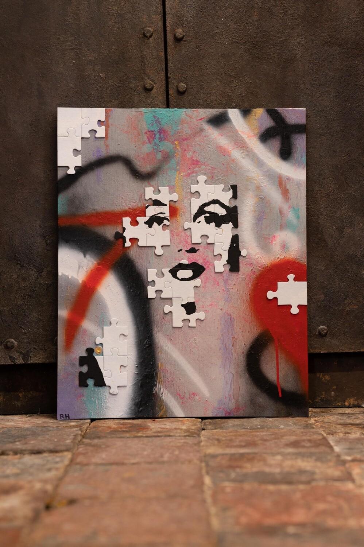Graffiti Art Jigsaw Marilyn by Rob Holmes