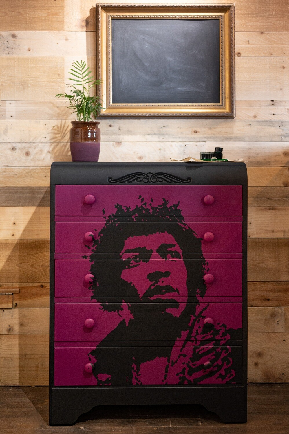 Jimi Hendrix Chest of Drawers by Rob Holmes
