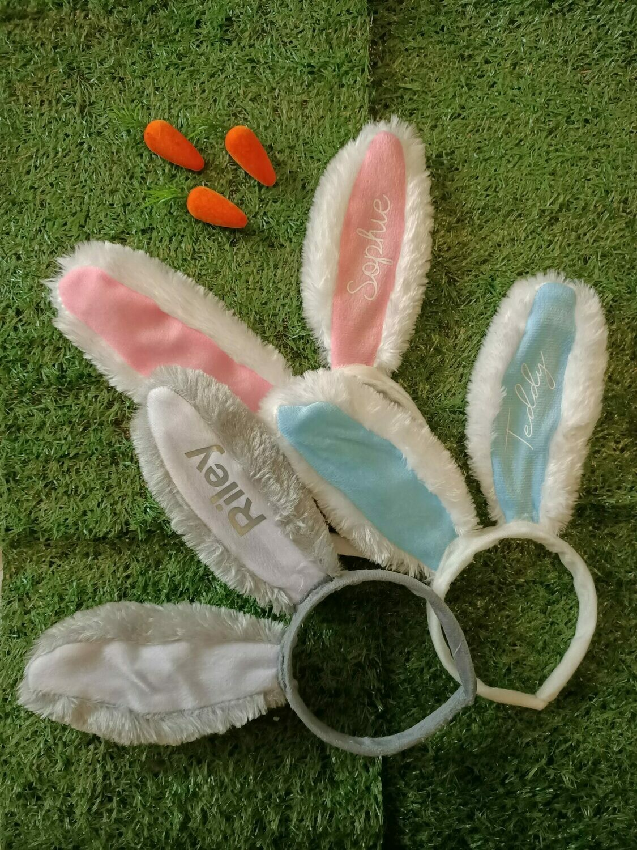 Cute Personalised Easter Bunny Ears Headband x1 Pair