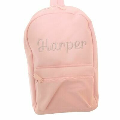 Children's Baby Pink Embroidered Personalised Girls Backpack