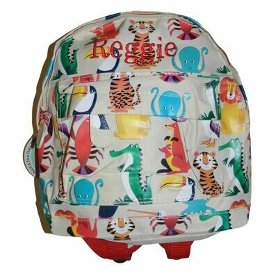 Personalised Children's Mini Backpack Colourful Creatures