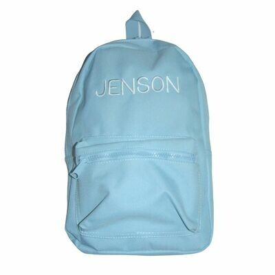 Children's Baby Blue Embroidered Personalised Backpack