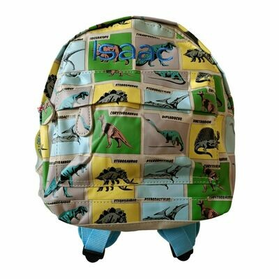 Embroidered Dinosaur Personalised Children's Backpack