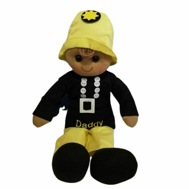 Fireman 40cm Personalised Rag Doll
