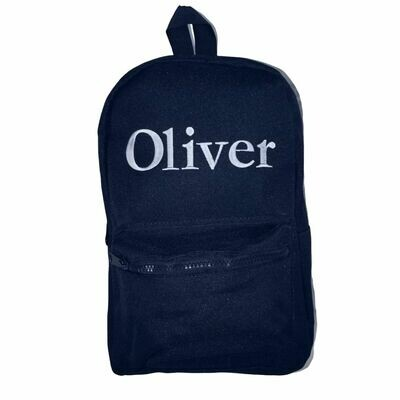 Navy Children's Personalised Embroidered Backpack