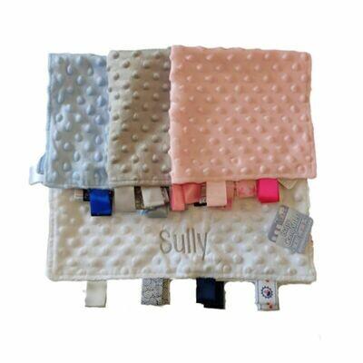 Personalised Baby Comforter Comfort Blanket 35x35cm
