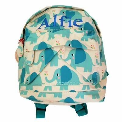 Personalised Children's Backpack Embroidered Elephant