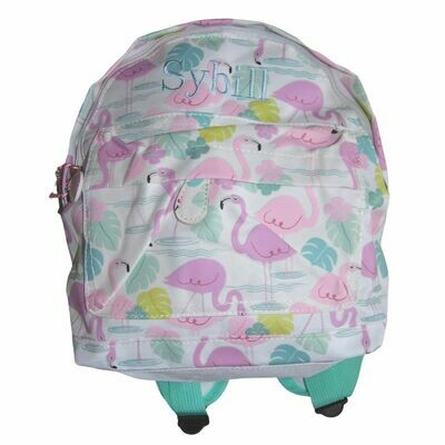 Personalised Embroidered Children's Backpack - Flamingo Bay