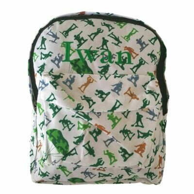 Personalised Embroidered Children's Backpack - Toy Soldiers