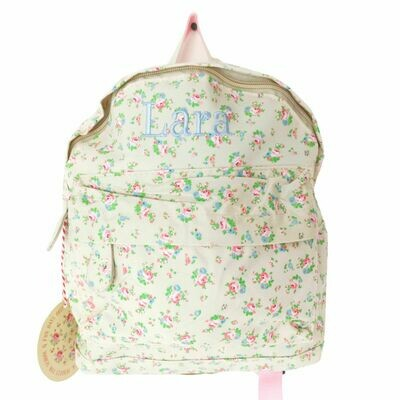 Rose Floral Flower Personalised Children's Backpacks