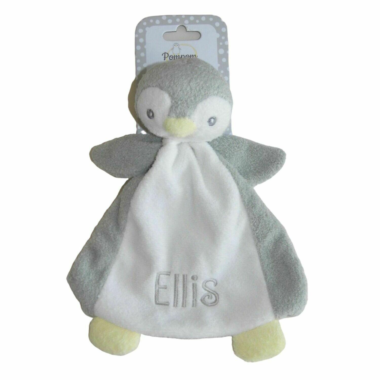 Penguin Personalised Baby Comforter Comfort Blanket