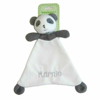 Panda Personalised Baby Comforter Comfort Blanket