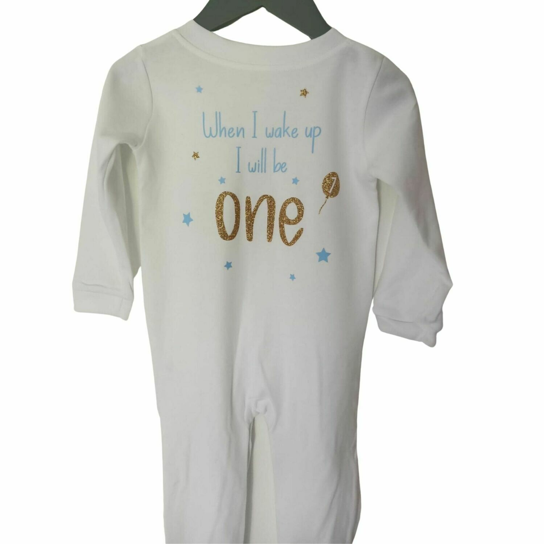 Personalised Birthday Sleepsuit - When i wake up