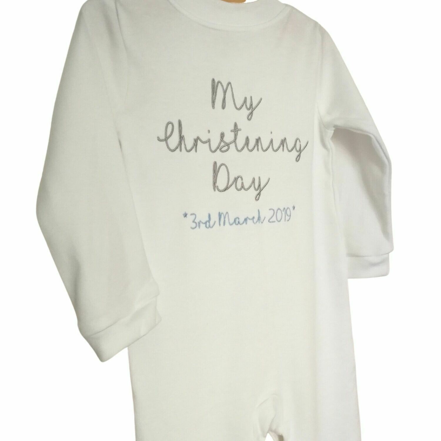 Personalised Sleepsuit for My Birthday / Christening Day