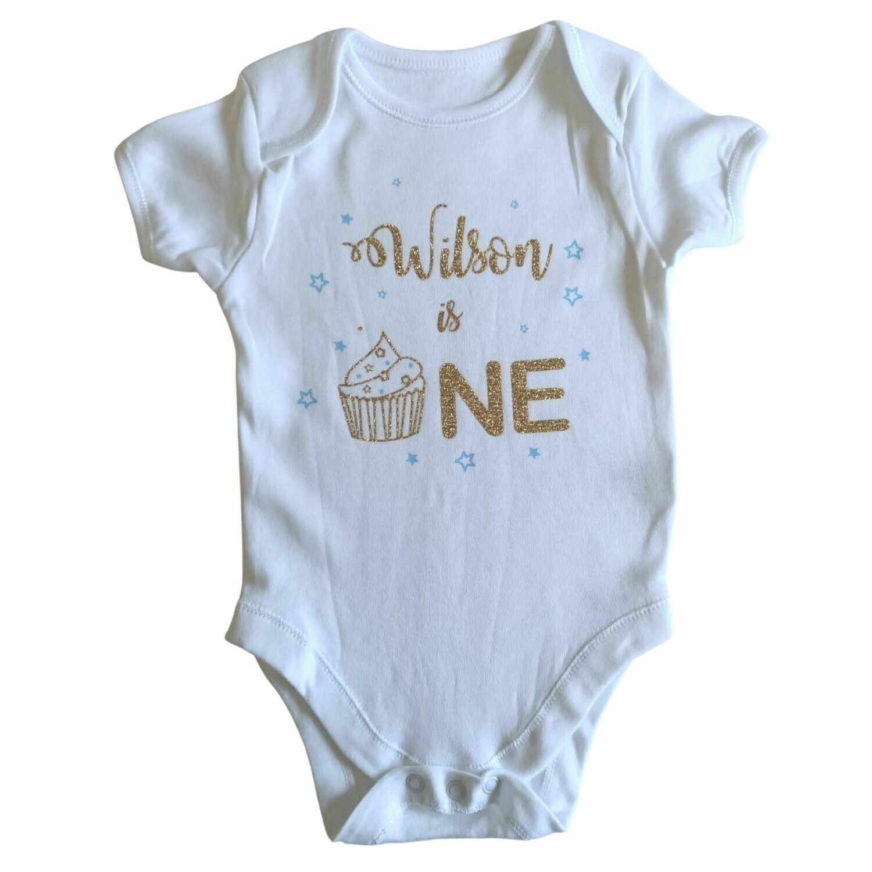 Personalised 1st Birthday Baby Grow - Cupcake