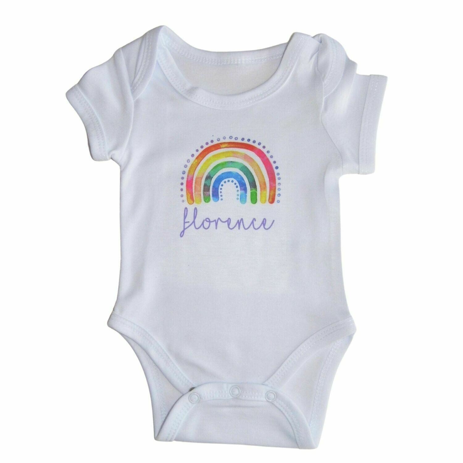 Personalised Rainbow Baby Grow with Name